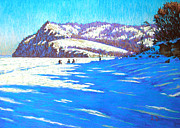 Shores Pastels - Winter in the Zhiguly mountains by Aleksey Zuev