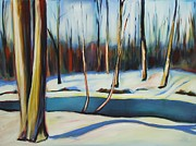 Sheila Diemert Metal Prints - Winter in Waterloo Park Metal Print by Sheila Diemert