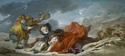 Honore Posters - Winter Poster by Jean Honore Fragonard