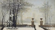Hall Painting Prints - Winter Landscape Print by Alessandro Guardassoni