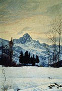 Fine Arts Framed Prints - Winter Landscape Framed Print by Matteo Olivero