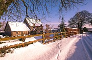 Fencing Originals - Winter Landscapes by Moments In Time  Photography