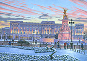 Queen Elizabeth Paintings - Winter Lights Buckingham Palace by Richard Harpum