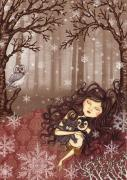 Snezana Kragulj Metal Prints - Winter lullaby Metal Print by Snezana Kragulj