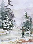 Snow Scene Paintings - Winter Magic by Elisabeta Hermann