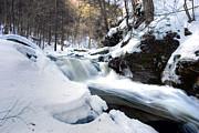 Winter Meltdown Rushing Over Conestoga Falls Print by Gene Walls