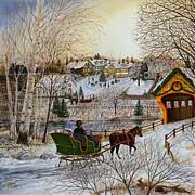 Cropped Painting Prints - Winter Memories 1 of 2 Print by Doug Kreuger