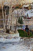 Cropped Painting Prints - Winter Memories 1 of 3 Print by Doug Kreuger