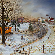 Cropped Painting Prints - Winter Memories 2 of 2 Print by Doug Kreuger