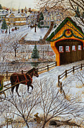 Cropped Painting Prints - Winter Memories 2 of 4 Print by Doug Kreuger