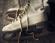 Antique Skates Prints - Winter Memories Print by Amy Weiss
