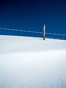 Snow Farm Prints - Winter Minimalism Print by Edward Fielding