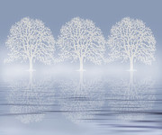 Subtle Prints - Winter Mist On Water Print by Zeana Romanovna