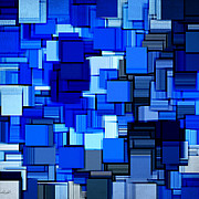 Rectangle Art - Winter Modern Abstract XIX by Lourry Legarde
