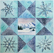 Gina Gahagan Metal Prints - Winter Montana/Ohio Square Metal Print by Gina Gahagan