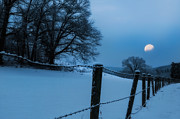 Fences Photos - WInter Moon by Bill  Wakeley