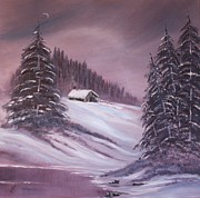 Winter Moon Print by Janice Rae Pariza