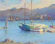 Rockport Paintings - Winter Mooring Gloucester by Ernest Principato