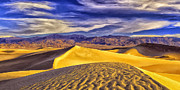 Zabriskie Point Paintings - Winter Morning at Death Valley by Dominic Piperata