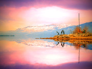 Tara Turner Framed Prints - Winter Morning at Okanagan Lake Framed Print by Tara Turner