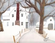 June Holwell - Winter Morning at the...