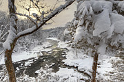 Housatonic River Posters - Winter Morning Poster by Bill  Wakeley