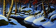 Snowy Brook Paintings - Winter Morning Light by Frank Wilson