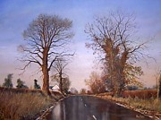 Stratford Paintings - Winter morning on Calverton Lane by Barry BLAKE