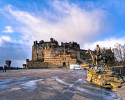 Edinburgh Art - Winter Morning on The Esplanade At Edinburgh Castle by Mark E Tisdale