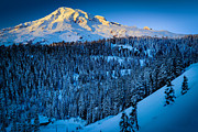 Washington Photos - Winter Mountain by Inge Johnsson