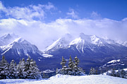 Banff National Park Photos - Winter mountains by Elena Elisseeva