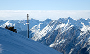 Cold Art - Winter mountains with cross by Michal Bednarek