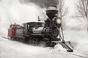 Colorado Railroad Museum Posters - Winter Narrow Gauge Steam Poster by Ken Smith