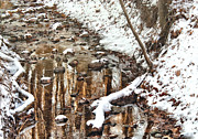 Water Flowing Photo Prints - Winter - Natures Harmony Print by Mike Savad
