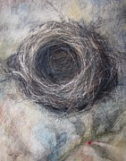 Nature Study Mixed Media - Winter Nest by Tonja  Sell