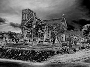 Leaden Sky Prints - Winter Night at Dunlop Kirk Print by James Potts
