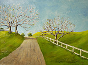 Winter Roads Originals - Winter Oaks by Terry Taylor