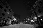 Snowy Night Night Photo Prints - Winter on Church Street Print by Mike Horvath