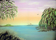 New Orleans Paintings - Winter On Lake Ponchartrain by Alys Caviness-Gober