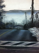 Foggy Art - Winter on Oak Street by Cristine Kossow