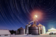 Startrails Photos - Winter on the Farm by Eric Anderson