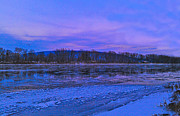 Lewisburg Prints - Winter on the Susquehanna River Print by Mike Griffiths