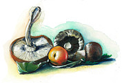 Fresh Vegetables Painting Posters - Winter on the Table Poster by Alessandra Andrisani