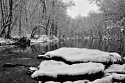 Phila Digital Art Posters - Winter on the Wissahickon Creek Poster by Bill Cannon
