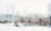 Original Watercolor Photos - Winter Painting II. Aquarel by Nature by Jenny Rainbow