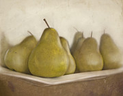 Snack Bar Art - Winter pears by Cindy Garber Iverson