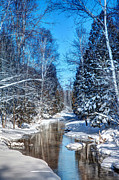 White River Scene Photo Originals - Winter Perfection by Gary Gish
