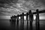 Seascape. Winter Prints - Winter Pier Print by Matt  Trimble