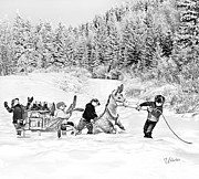Youth Hockey Art - Winter Pond Hockey Travels by Elizabeth Urlacher