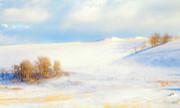 Winter Poplars Print by Theresa Tahara